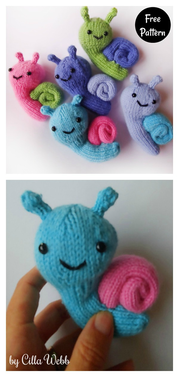 Stanley the Travelling Snail Free Knitting Pattern