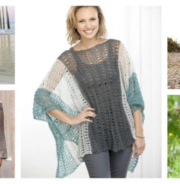 Summer Poncho Free Knitting Pattern