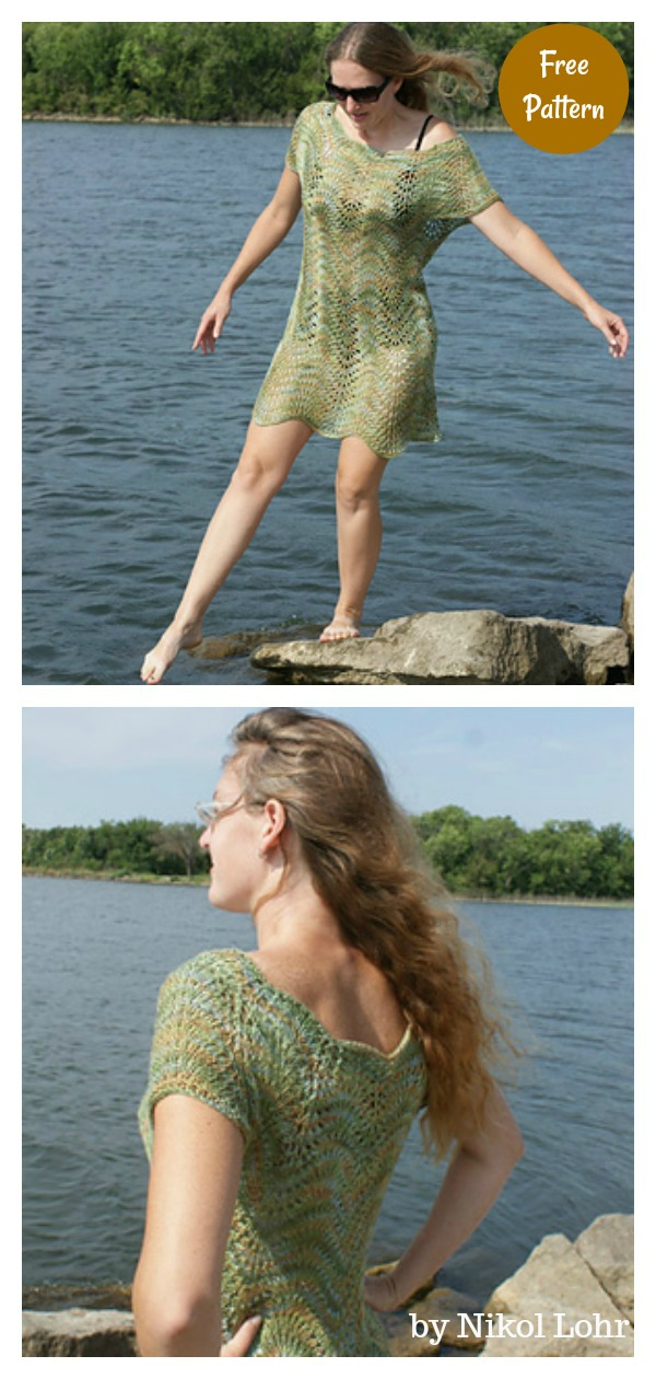 SwimSuit Cover Up Free Knitting Pattern