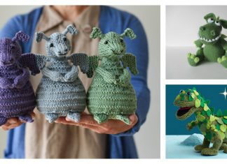 Adorable Dragon Amigurumi Knitting Patterns
