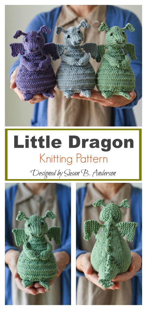 Adorable Little Dragon Amigurumi Knitting Pattern