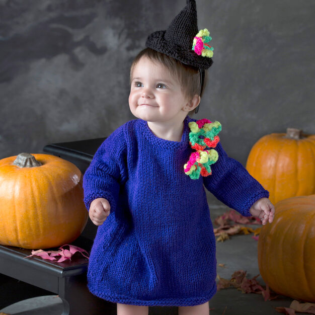 Baby Witch Hat and Dress Free Knitting Pattern