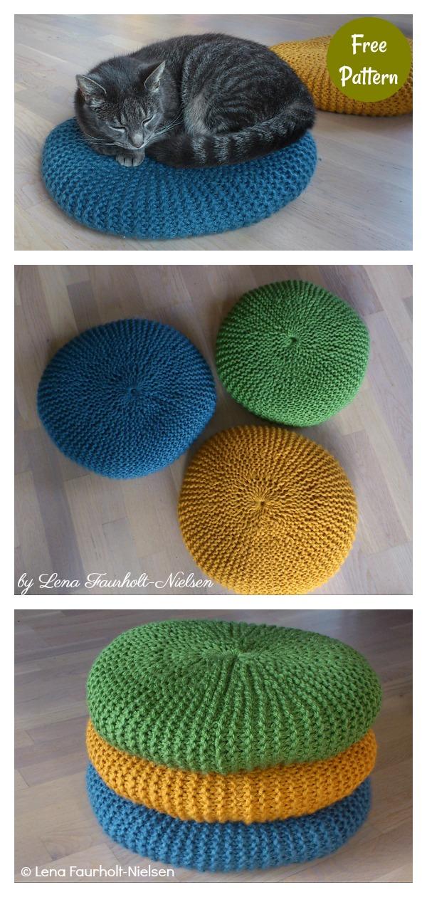 Floor Cushions Free Knitting Pattern