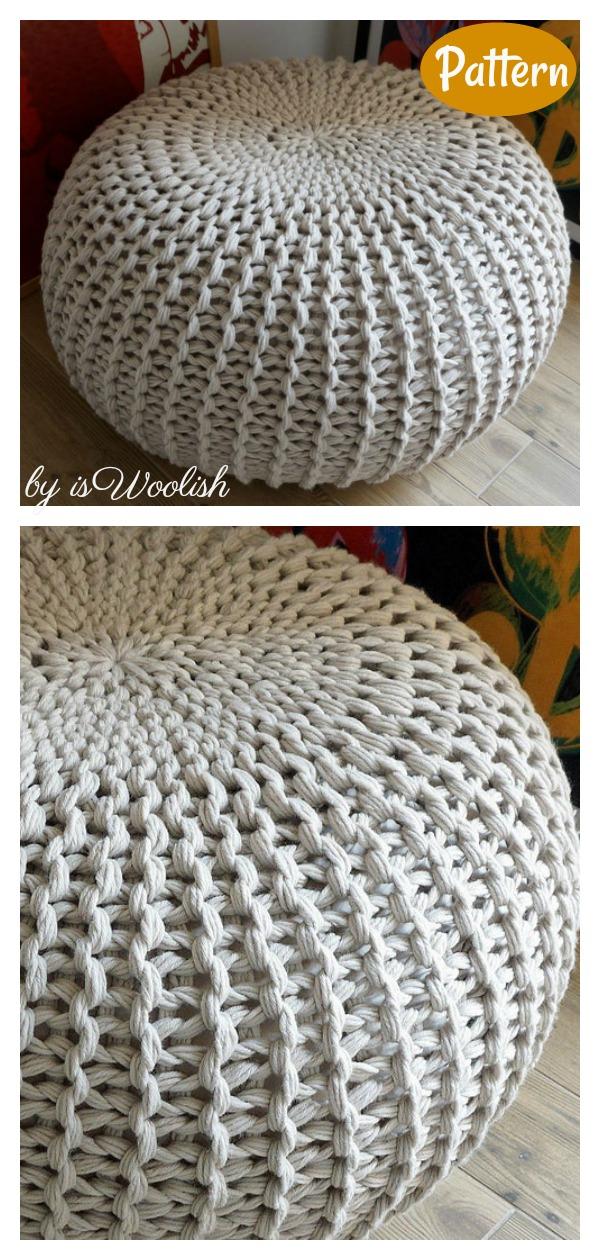 Floor Pouf Knitting Pattern