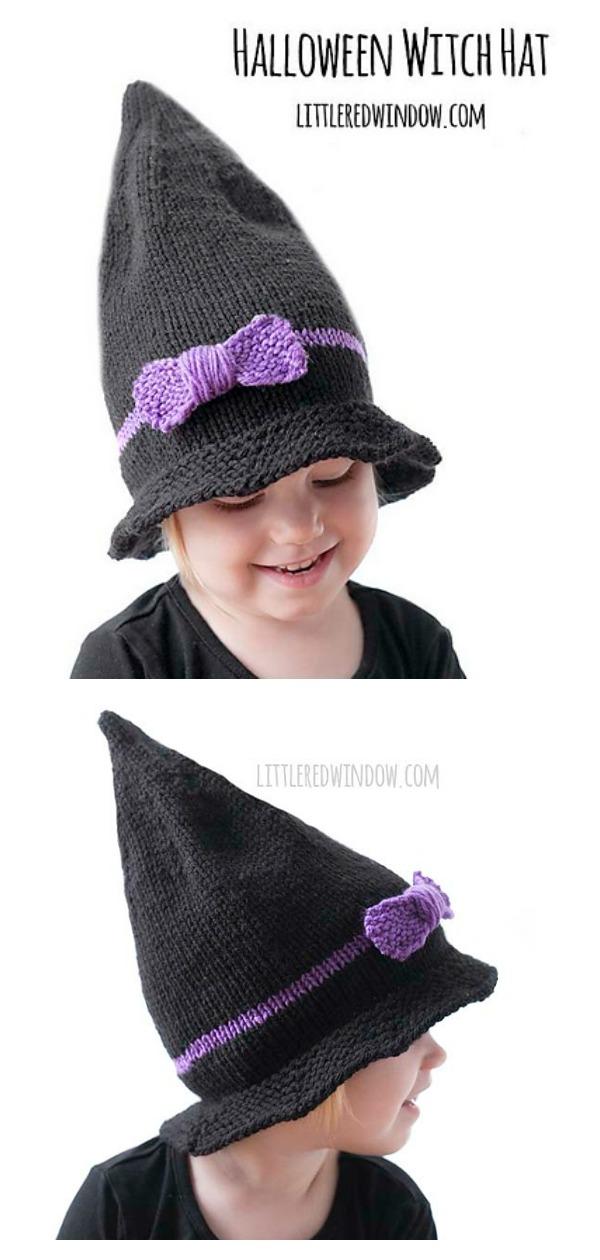 Little Witch Hat Free Knitting Pattern
