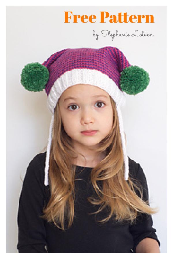 Mrs. Claus Boxy Hat Free Knitting Pattern