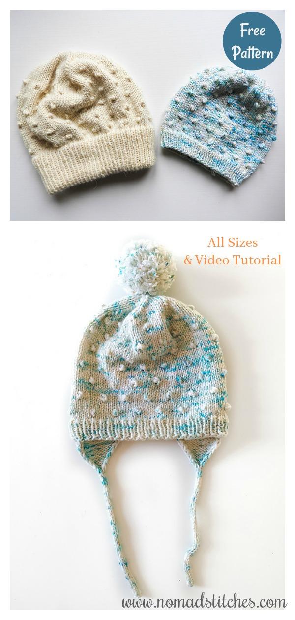 Dot dot dot Beanie Free Knitting Pattern and Video Tutorial
