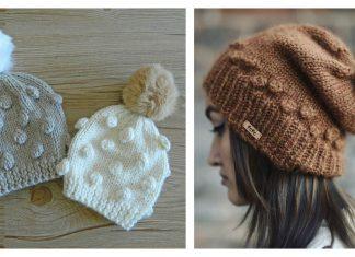 Popcorn Hat Free Knitting Pattern and Paid