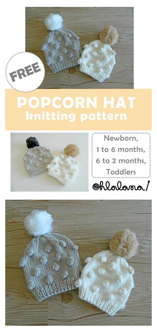 Popcorn Baby Hat Free Knitting Pattern