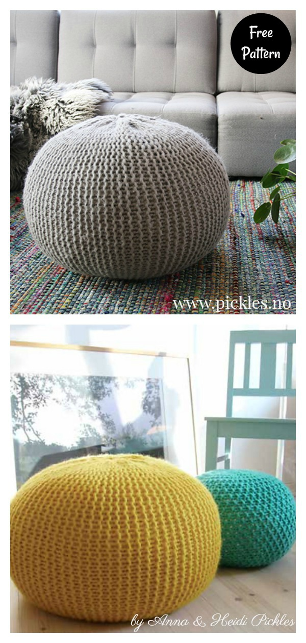 Puff Daddy Floor Pouf Free Knitting Pattern