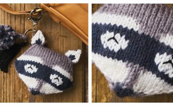 Raccoon Keychain Free Knitting Pattern