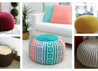 Floor Pouf Free Knitting Pattern and Paid