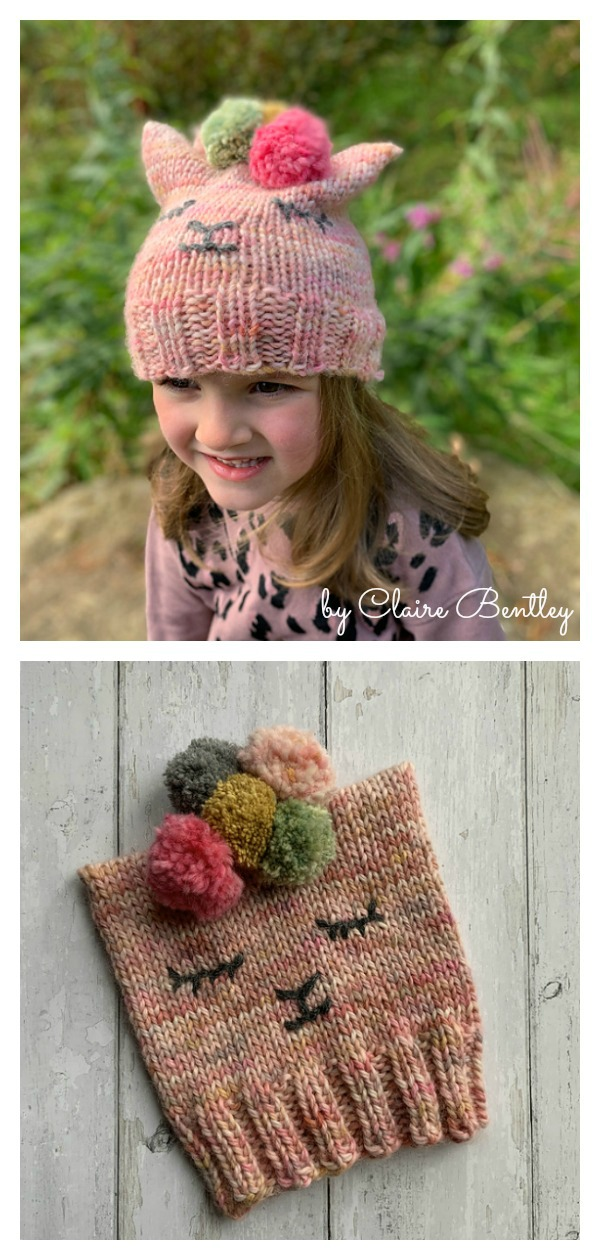 Alpaca Pom Pom Hat Free Knitting Pattern