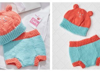 Baby Hat and Diaper Cover Free Knitting Pattern