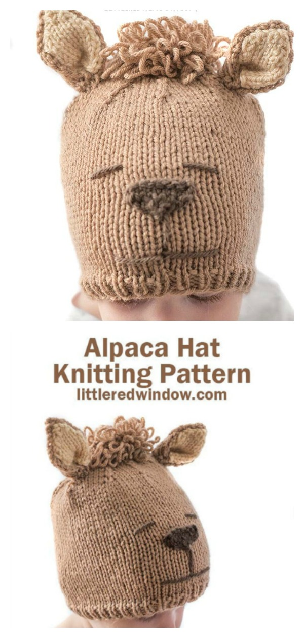 Baby Llama Hat Knitting Pattern
