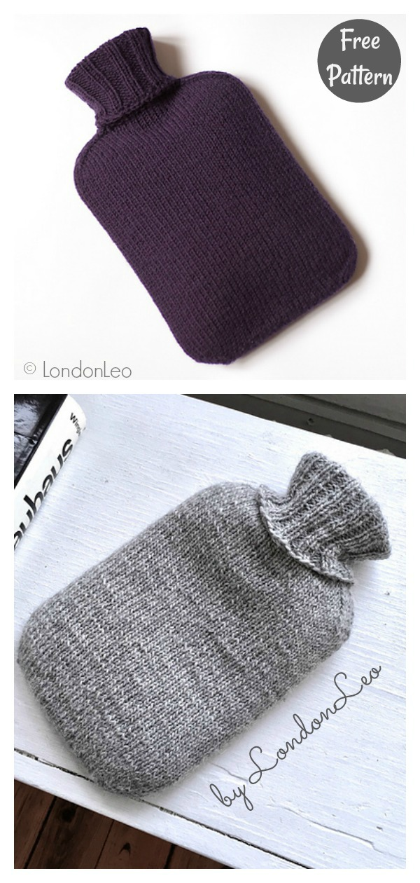 Classic Hot Water Bottle Cover Free Knitting Pattern
