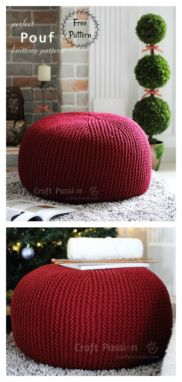 Floor Pouf Free Knitting Pattern