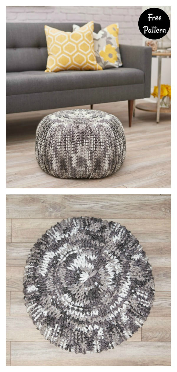 Floor Pouf Free Knitting Pattern