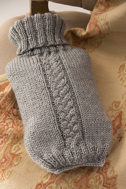 Hot Water Bottle Cover Free Knitting Pattern