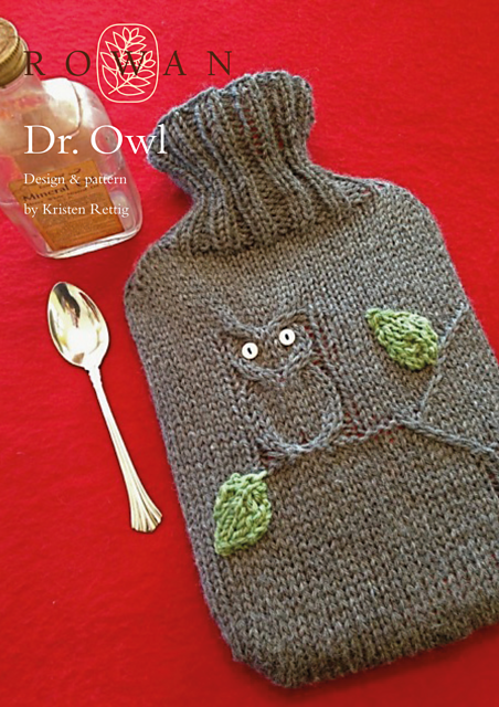 Owl Hot Water Bottle Cover Free Knitting Pattern