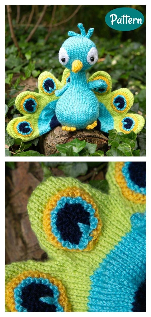 Peacock Knitting Kit and Pattern