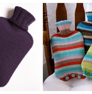Simple Hot Water Bottle Cover Free Knitting Patterns