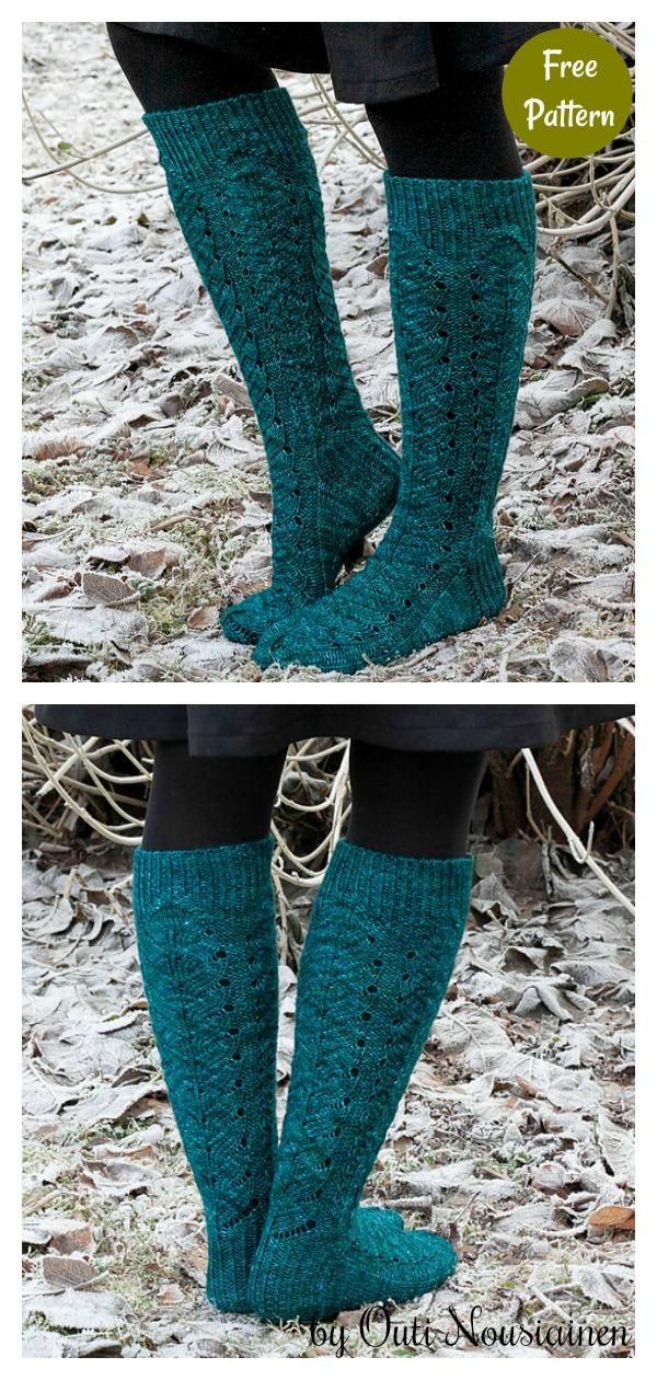Sulkasato Knee High Socks Free Knitting Pattern
