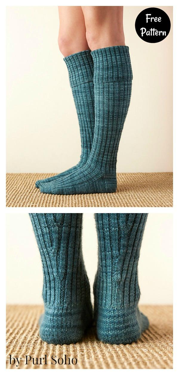 Very Long Socks Free Knitting Pattern