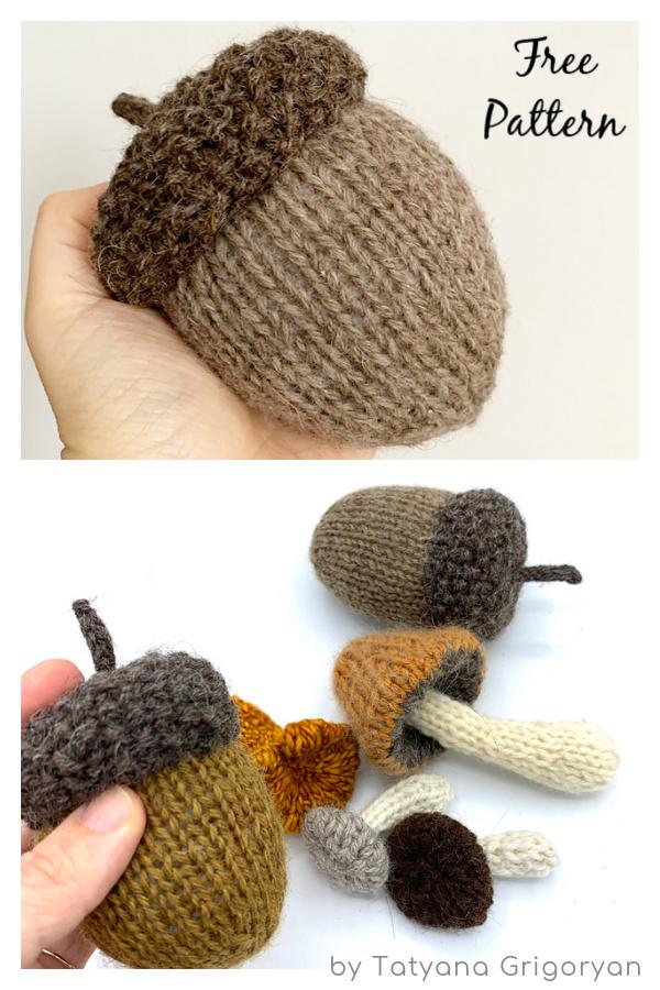 A Pretty Big Acorn Free Knitting Pattern