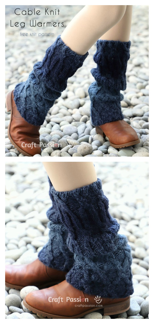 Cable Leg Warmers Free Knitting Pattern