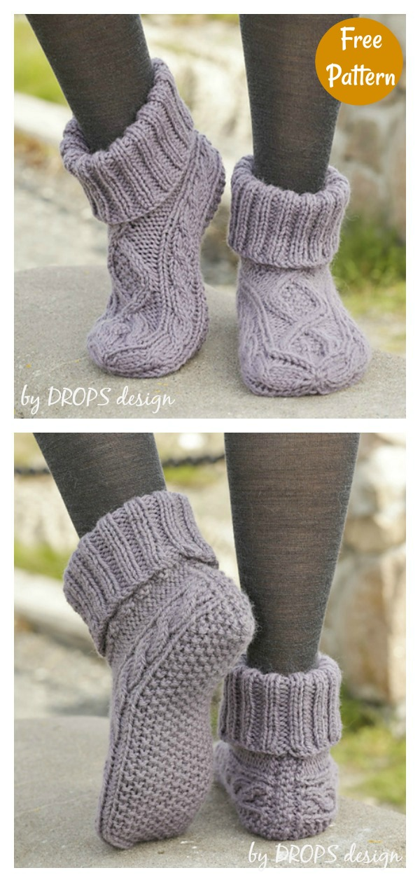Celtic Dancer Slippers Free Knitting Pattern