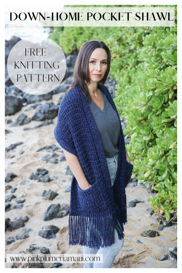 Down-Home Pocket Shawl Free Knitting Pattern