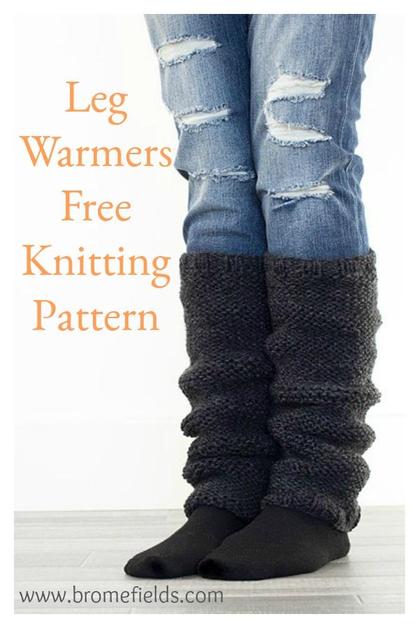 Flat Knit Leg Warmers Free Knitting Pattern