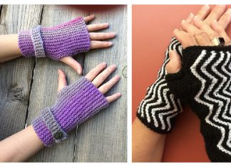 Garter Stitch Fingerless Mitts Free Knitting Pattern