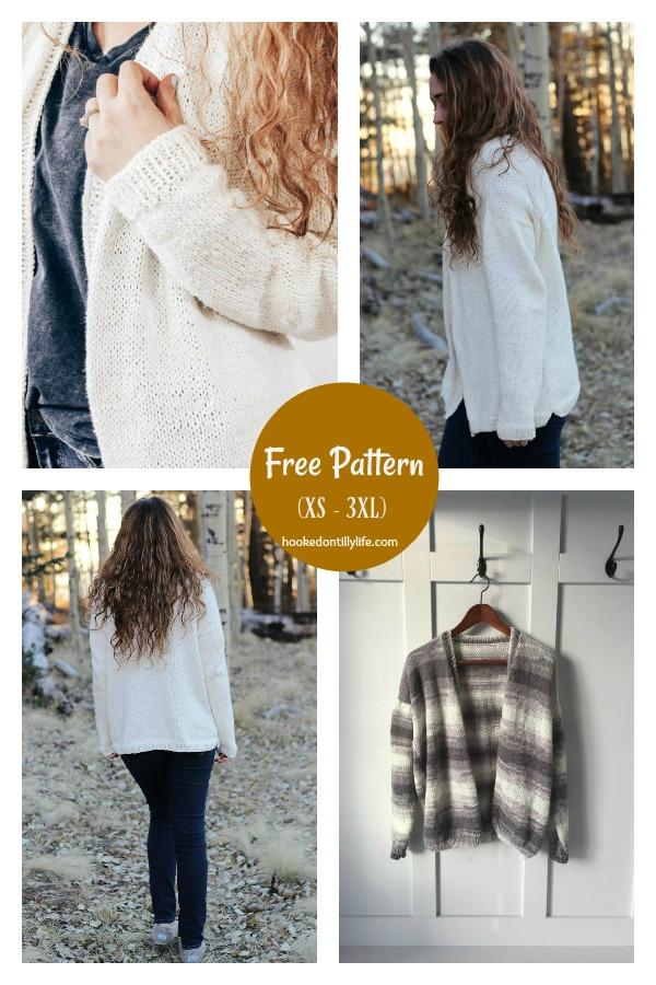 Glenveagh Oversized Cardigan Free Knitting Pattern