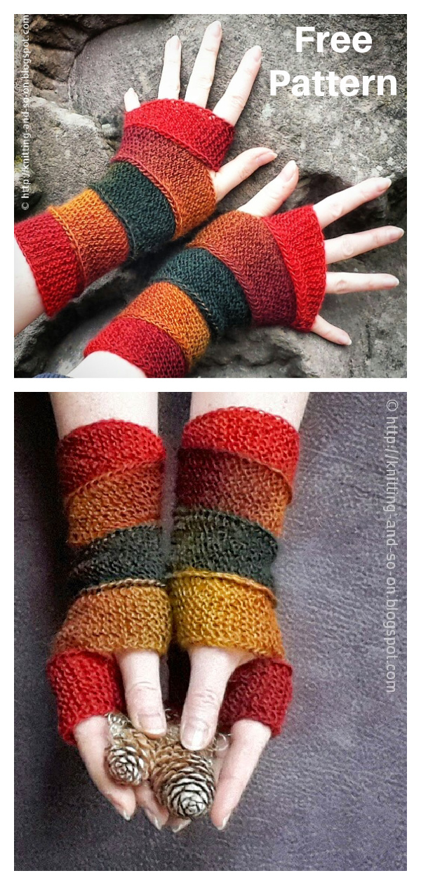 Helix Mitts Free Knitting Pattern