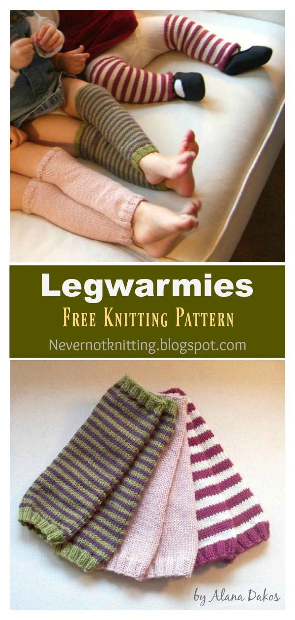 Kids Legwarmies Free Knitting Pattern