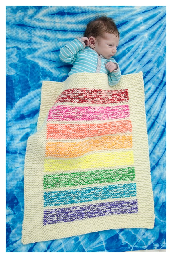 Lemon Squeezy Stroller Blanket Free Knitting Pattern