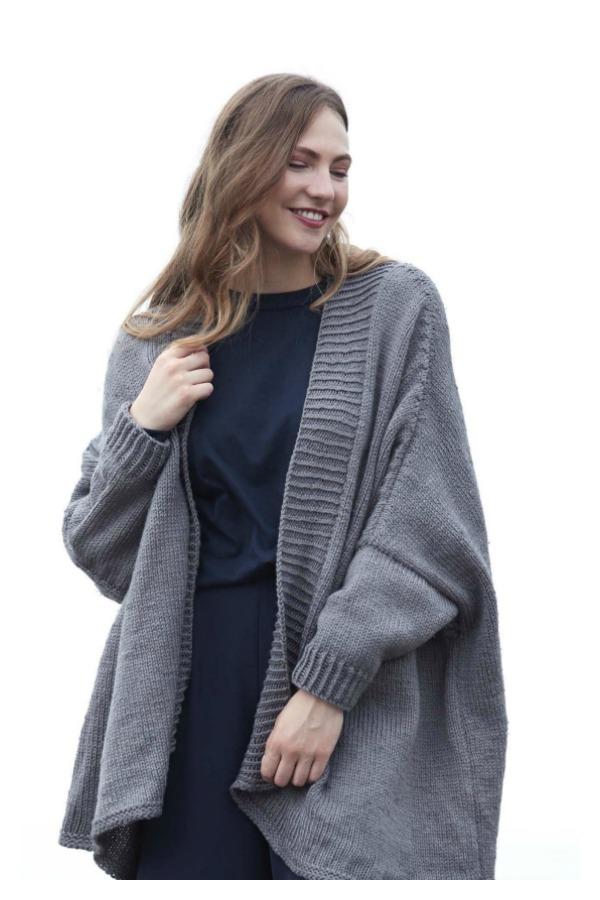 Oversized Cardigan Free Knitting Pattern