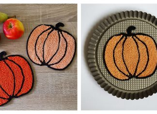 Pumpkin Potholders Free Knitting Pattern
