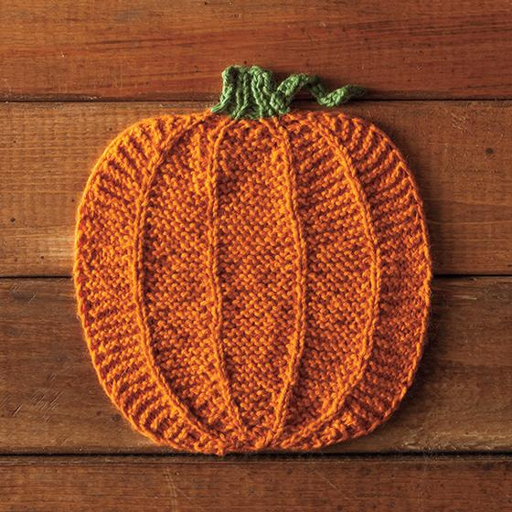 Pumpkin Dishcloth Free Knitting Pattern