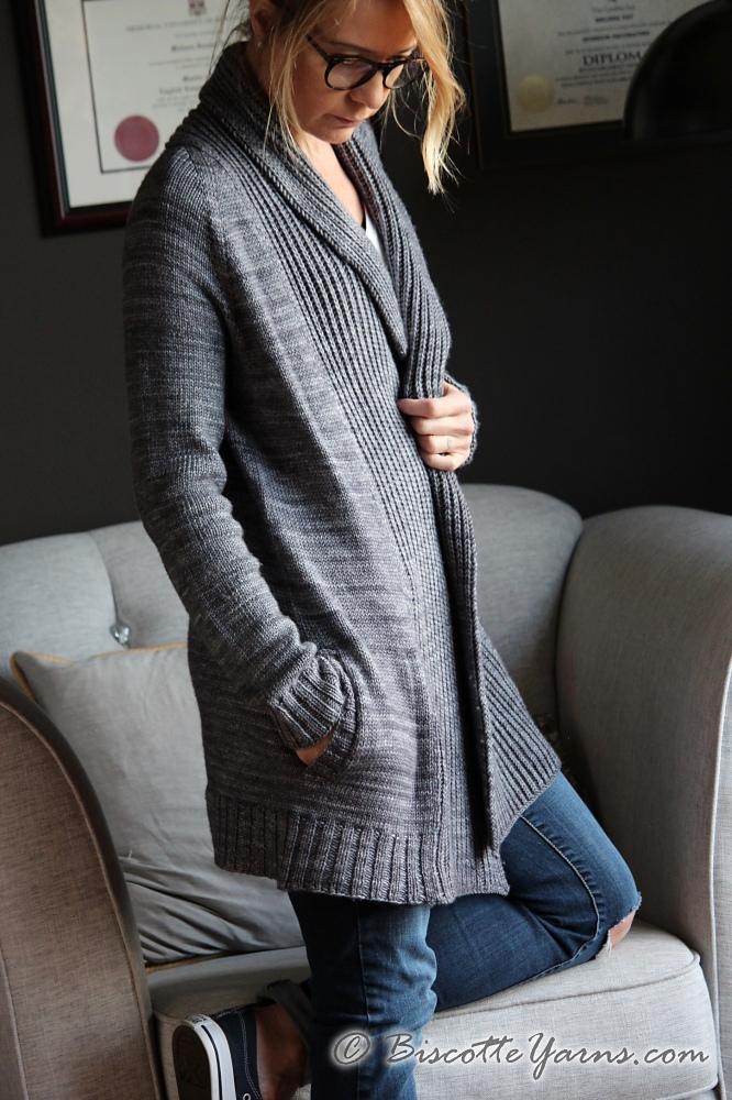 Pure Comfort Cardigan Free Knitting Pattern