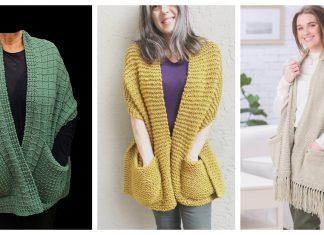 10+ Reader's Wrap Pocket Shawl Knitting Patterns
