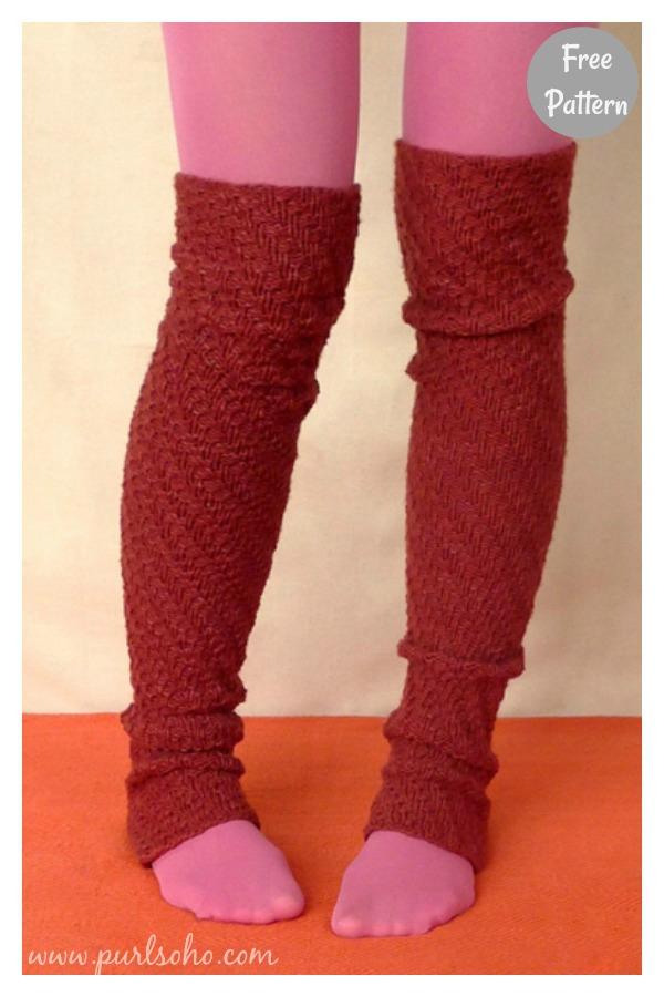 Spiral Rib Leg Warmers Free Knitting Pattern