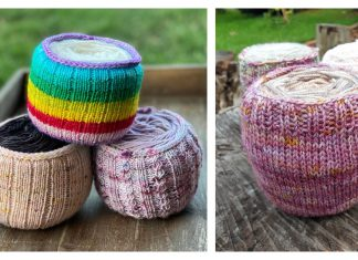 Yarn Cake Cozy Holder Free Knitting Pattern and Paid