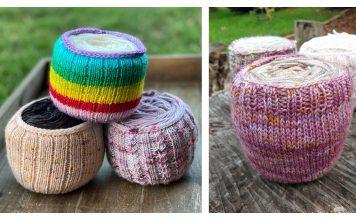 Yarn Cake Cozy Holder Free Knitting Pattern and Paid