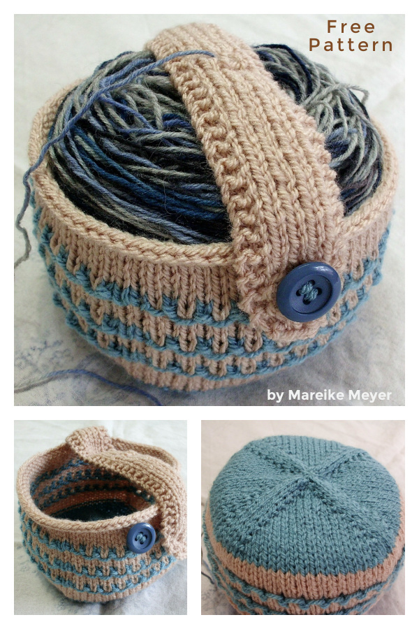 Yarn Cake Cozy Holder Free Knitting Pattern