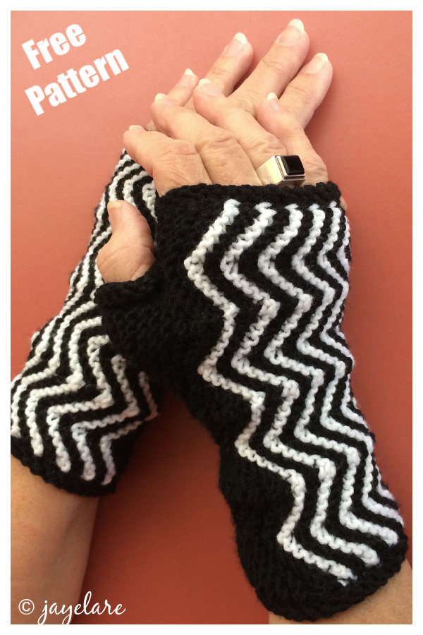 ZigZag Fingerless Gloves Free Knitting Pattern