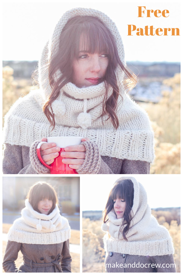 The Huggle Hooded Cowl Free Knitting Pattern