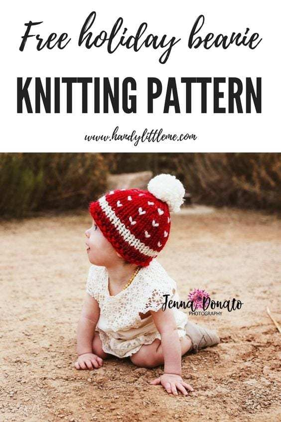 Christmas Baby Hat Free Knitting Pattern